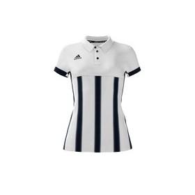 Polo Femme Mi team adidas Blanc rayé